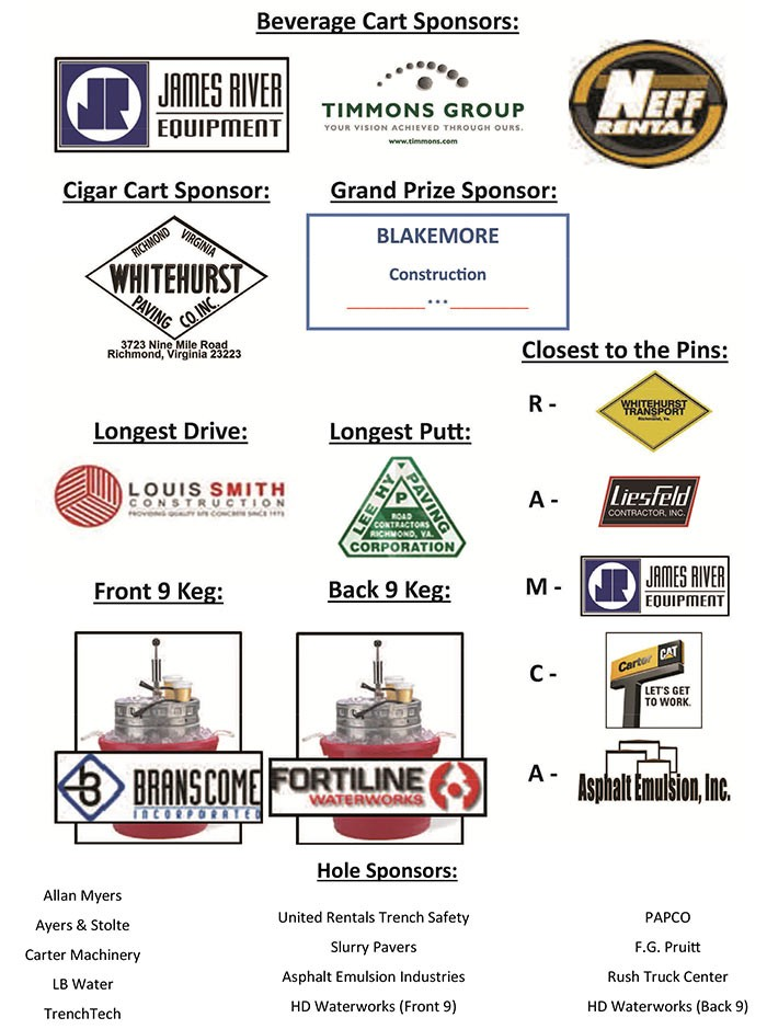 Thank You to George Bickerstaff Memorial Golf Outing Sponsors!
