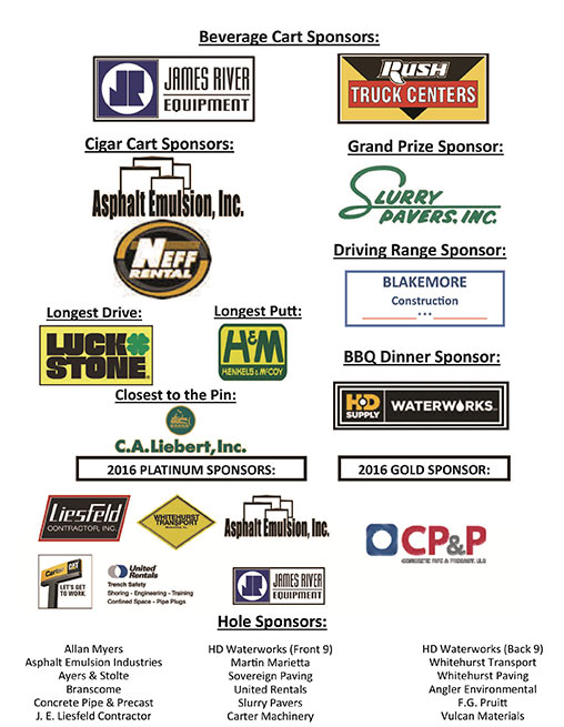 Thank you to Jack Bargamin Memorial Golf Outing Sponsors!