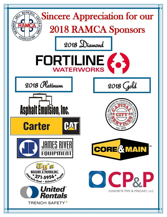 Sincere Appreciation for our 2018 RAMCA Sponsors